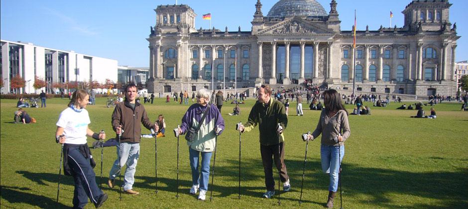 Nordic Walking Schnupperkurs am Berliner Reichstag